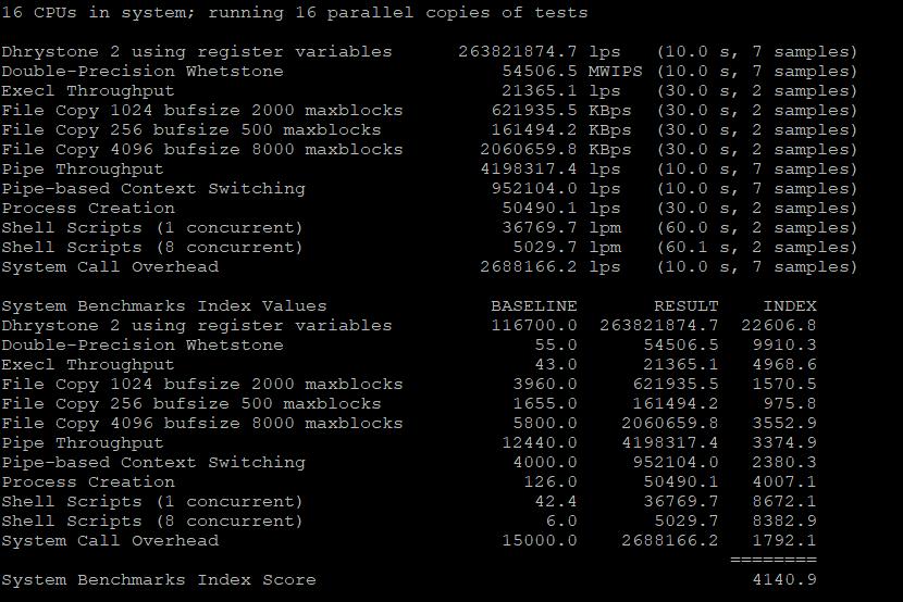 BlueHost美国服务器DS1-SSD的跑分测试2