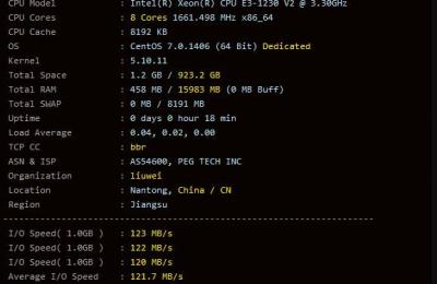 RAKsmart美国服务器E3-1230的基本性能配置信息