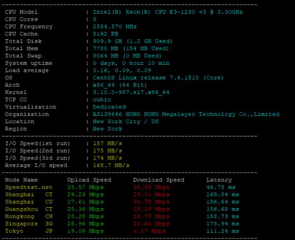 CPU和I/O读写测试